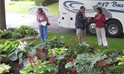 OHS Members on a hosta garden visit